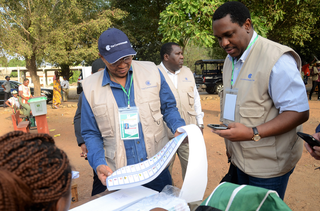The Commonwealth Observer Group, chaired by the former President of the United Republic of Tanzania Jakaya Kikwete, witnessed the general elections in Nigeria. Observers watching the voting.