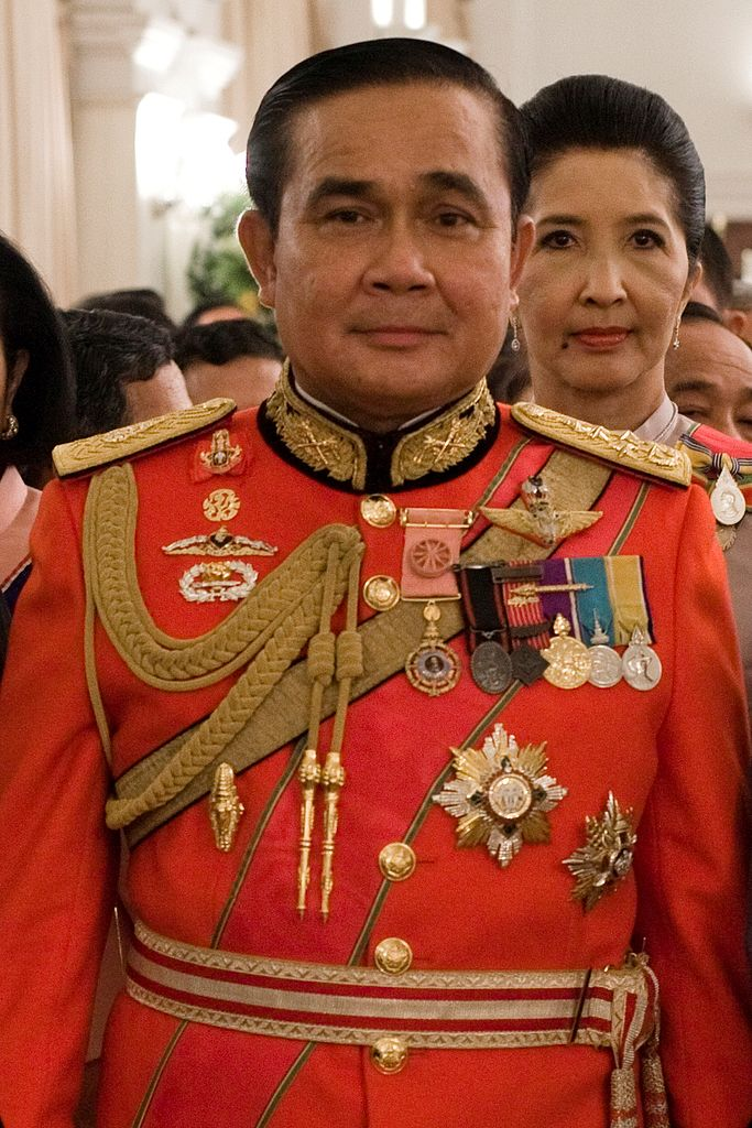 Prayuth Chan-Ocha in 1st Infantry Regiment's royal guard uniform
