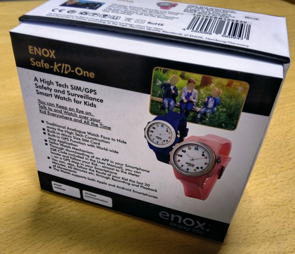 Box for Enox Safe-Kid-One smartwatch