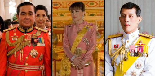 Prayuth Chan-ocha, Princess Ubolratana Mahidol, King Maha Vajiralongkorn Bodindradebayavarangkun