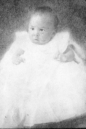 Langston Hughes as a baby