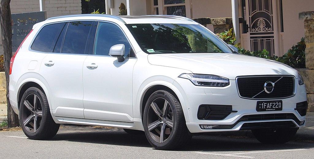 2018 Volvo XC90 T6 R-Design wagon. Photographed in Fremantle, Western Australia, Australia.
