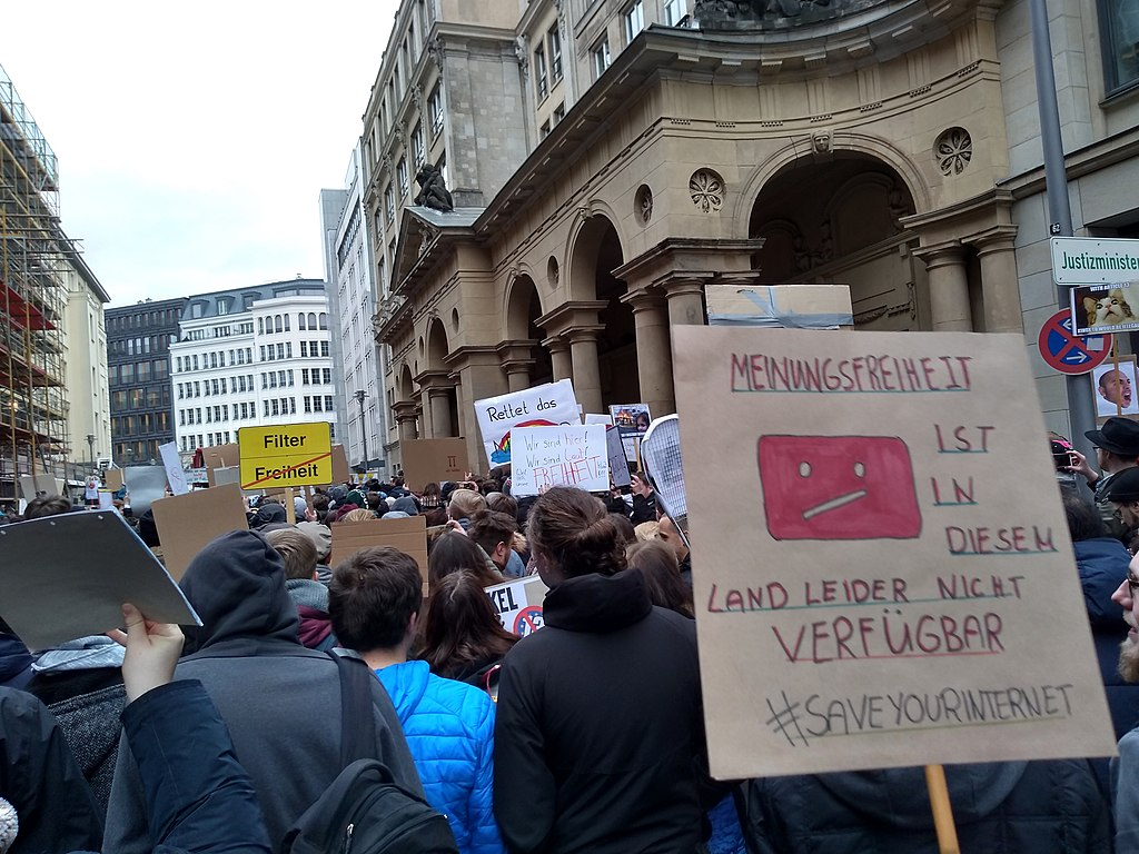 Rally against the EU Copyright Directive on 2 March 2019 in Berlin