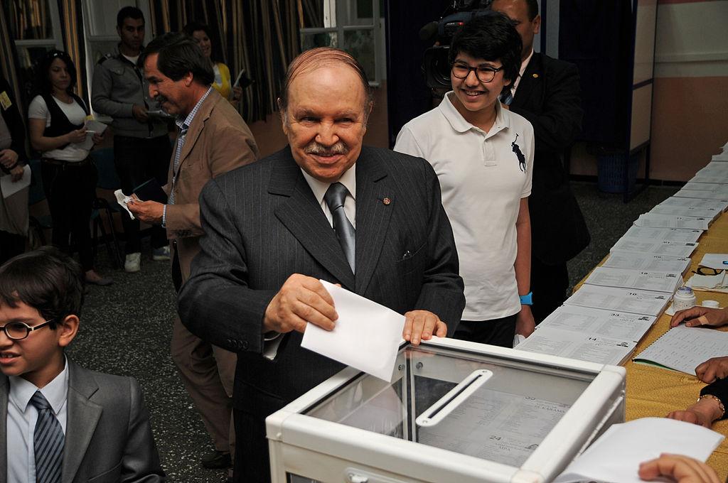 Algerian President Abdelaziz Bouteflika casts his ballot in May 10th's legislative election.