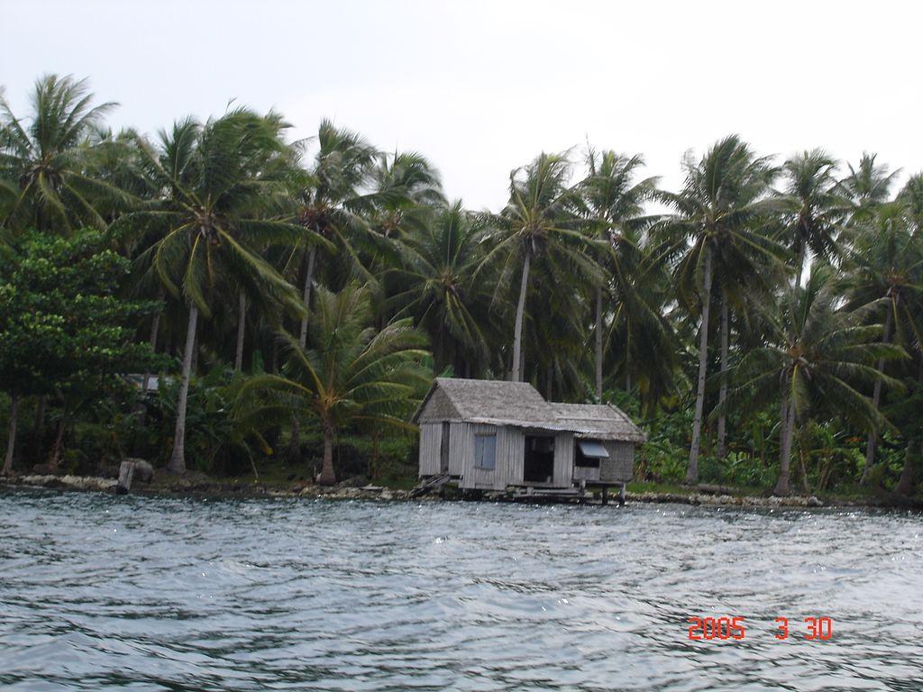 Cabin on water - East Rennell (Solomon Islands)