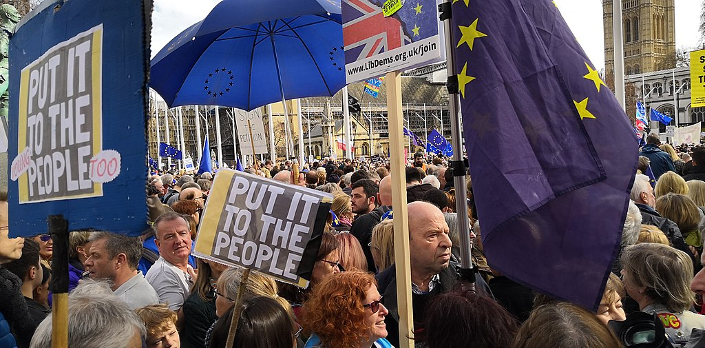 People's Vote march, view from Parliament Square, March 23, 2019.