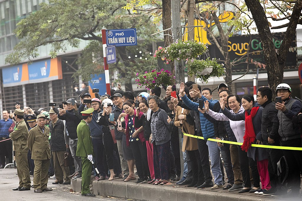 Crowds gather to watch the motorcade of President Donald J. Trump along the streets Wednesday, Feb. 27, 2019, in Hanoi. (Official White House Photo by Joyce N. Boghosian)