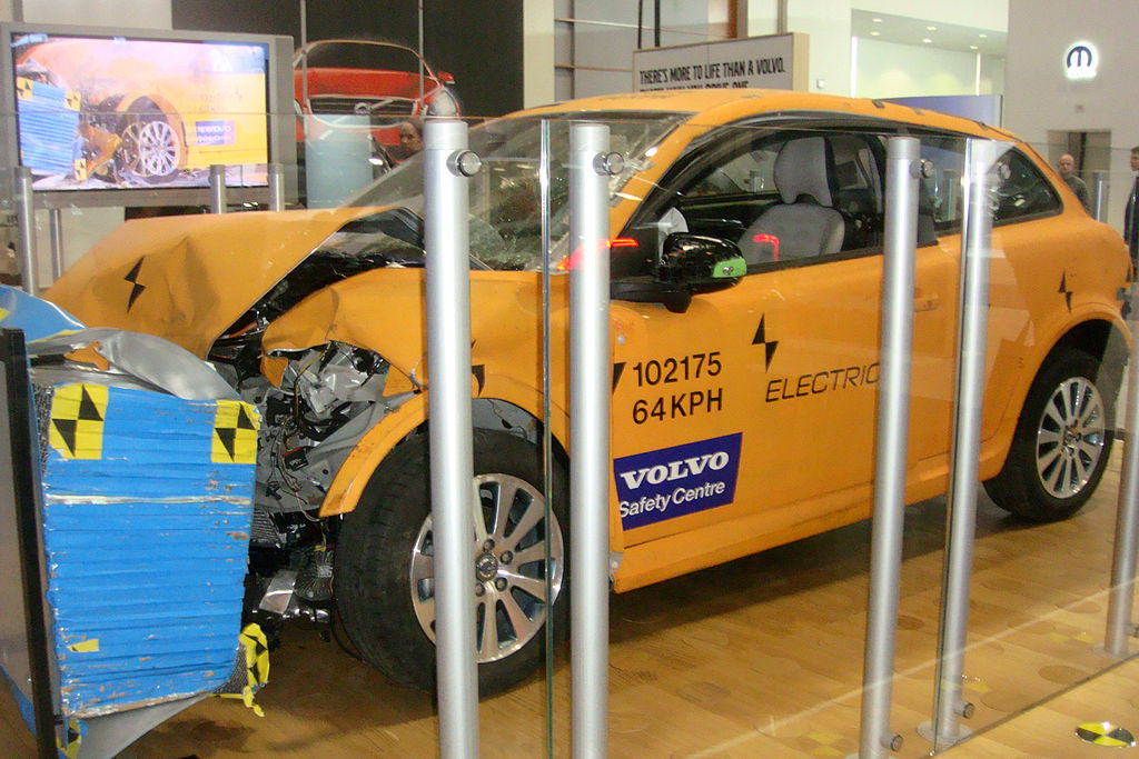 Crash-Tested Volvo C30 Electric exhibited at the 2011 Washington Auto Show