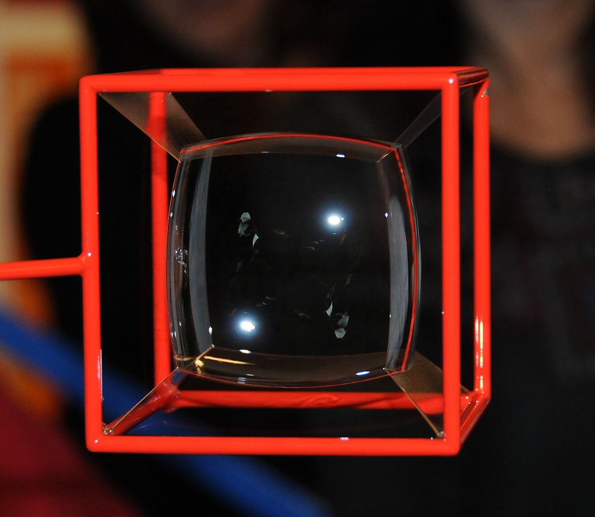Soap bubbles inside a cube