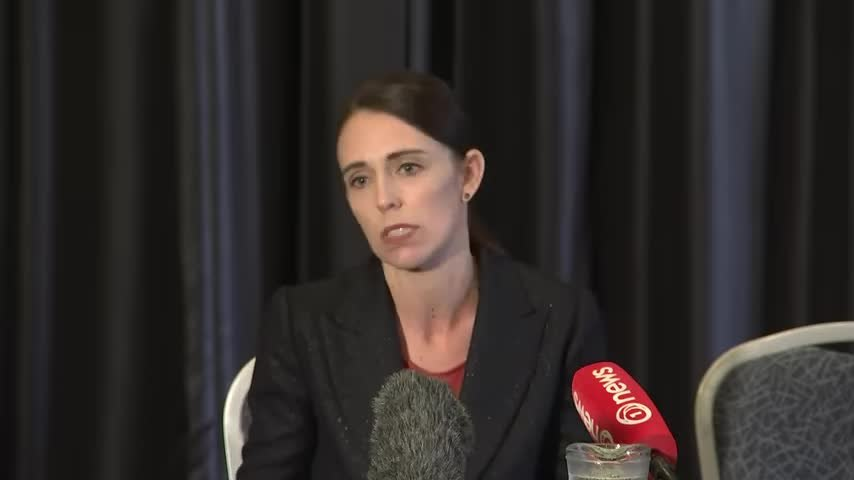 Jacinda Ardern condemns Christchurch mass shooting.