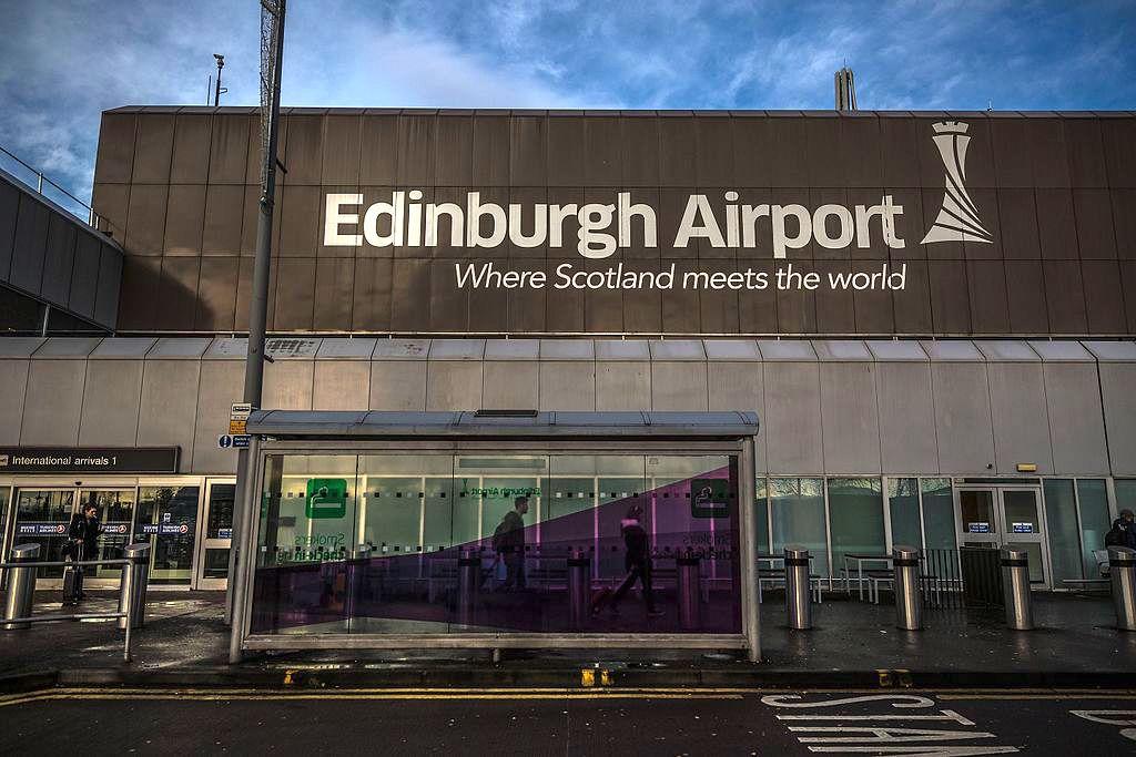 International arrivals at Edinburgh Airport.