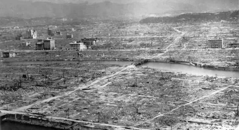 Picture of Hiroshima after the atomic bomb was dropped - 6 August 1945, 8:15 a.m.