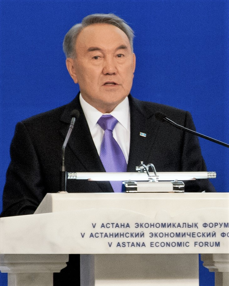 President of Kazakhstan, Nursultan Nazarbayev, at the Astana Economic Forum.