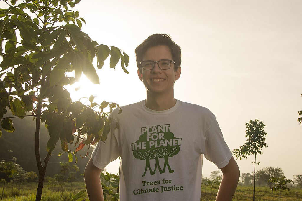 Felix Finkbeiner at the Plant-for-the-Planet Yucatán Reforestation Project in Mexico