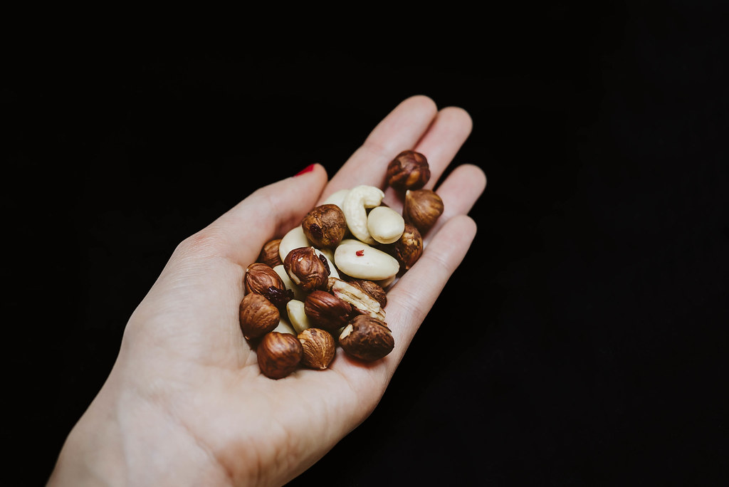 Nuts in hand
