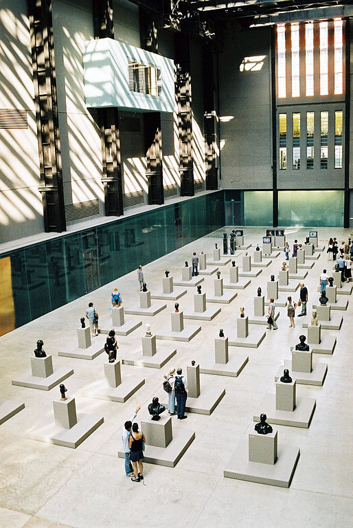 Gallery of busts, Tate Modern, London
