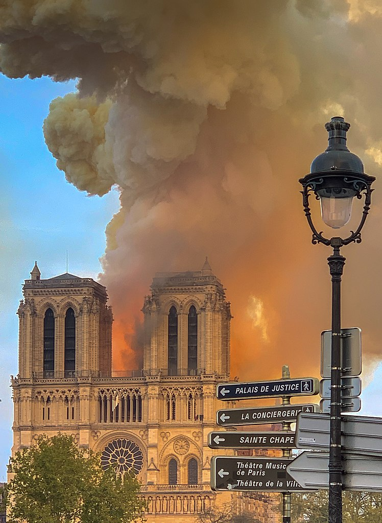 Notre Dame de Paris, burning. 15 april 2019