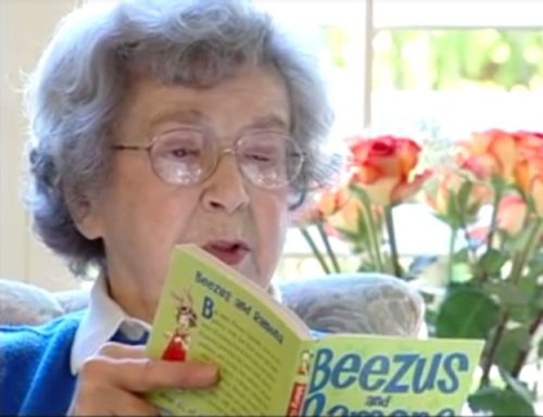 Beverly Cleary reading.