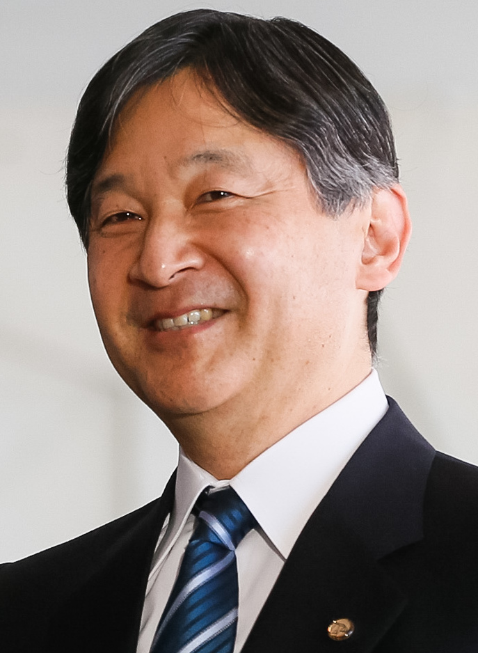 Naruhito, Crown Prince of Japan, shaking hands at the World Water Forum.