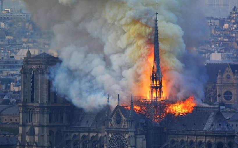 Blaze at Notre-Dame, Paris