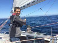 Mitsuhiro Iwamoto sailing.
