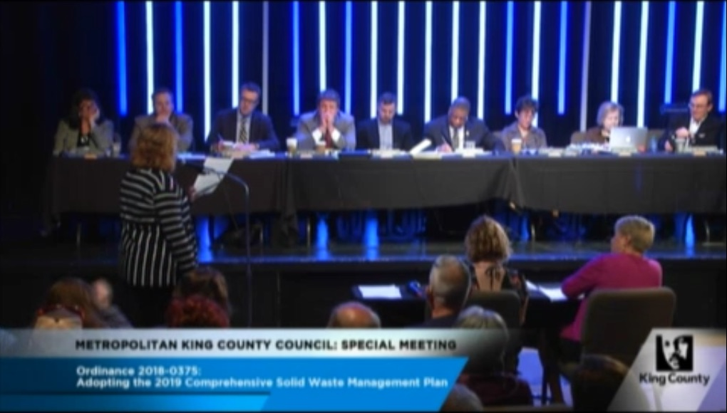 King County council meeting
