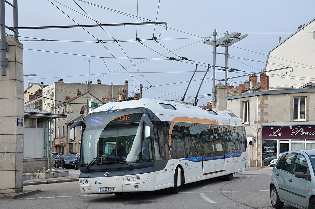 Irisbus Cristalis trolleybus in Limoges, France