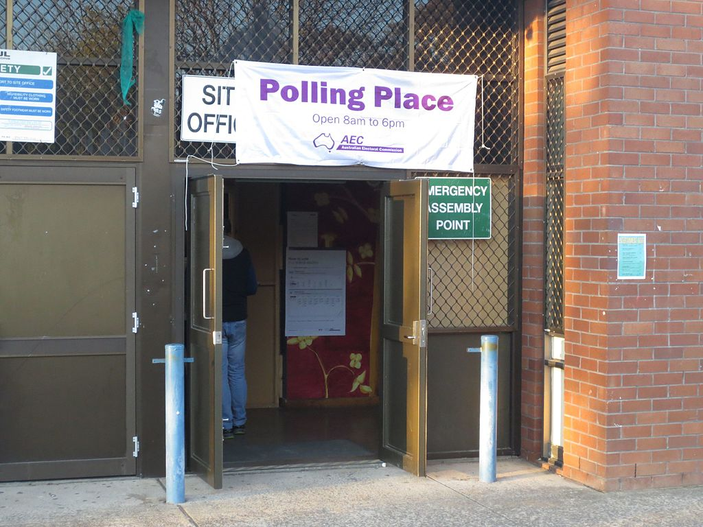 polling station for the Australian 2016 federal election
