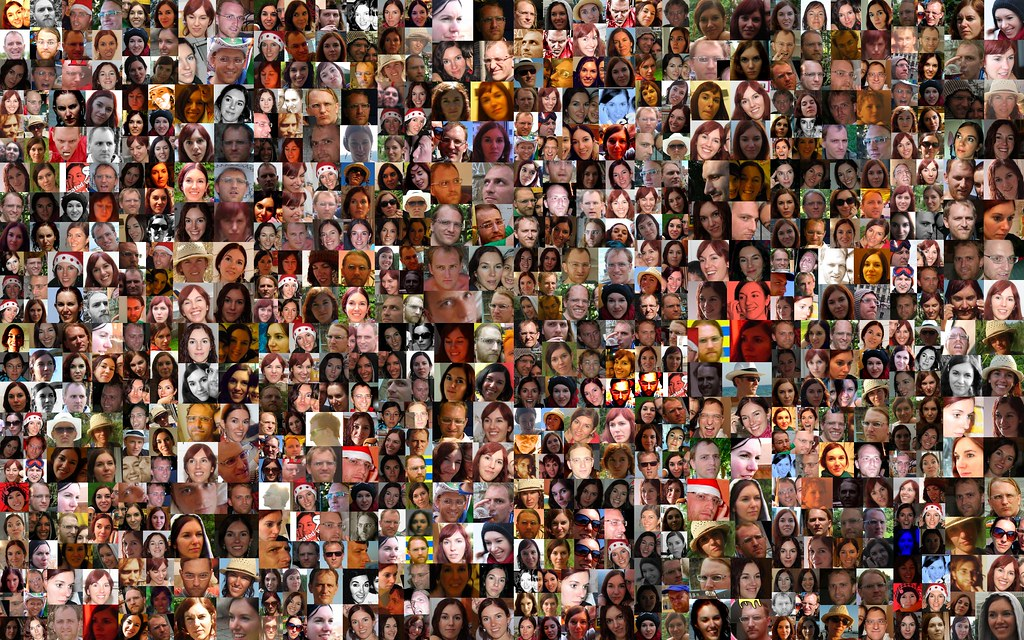 Collage of faces
