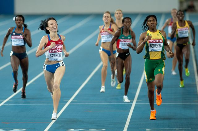 Caster Semenya in 800 m women final - 2011 World championships Athletics in Daegu