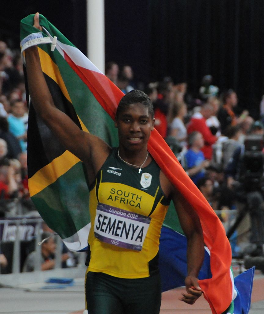 South African Caster Semenya, wins a gold medal in the 800 meters in London in 2012.