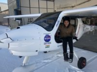Aarohi Pandit in light sport aircraft.