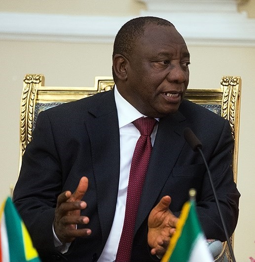 Cyril Ramaphosa, Deputy President of South Africa meeting with Iranian parliament chairman, Ali Larijani in Tehran