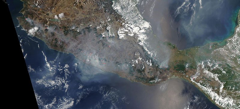 The pollution was so bad it could be seen from space.