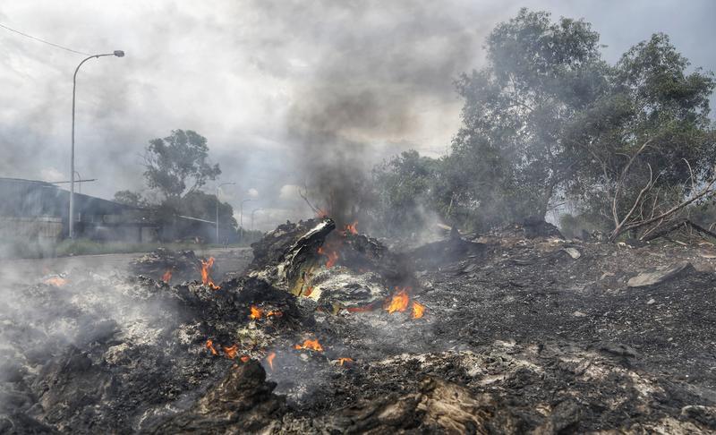Plastic burning in Malaysia.
