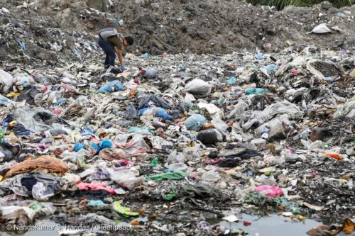 Plastic dump in Malaysia.