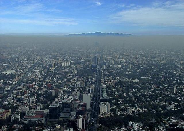 Pollution over Mexico City.