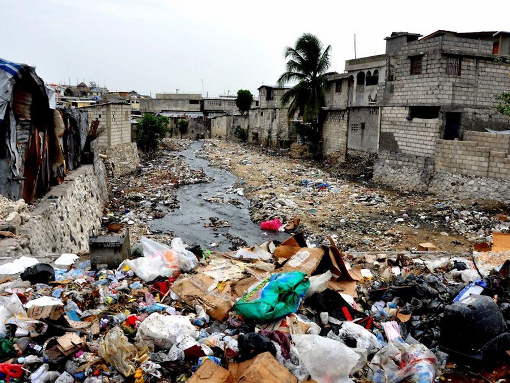Plastic pollution in Haiti