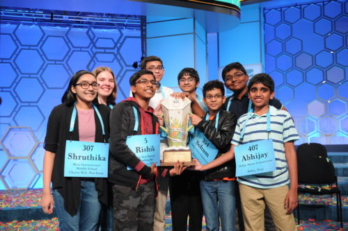 Winners of the 2019 Scripps National Spelling Bee.
