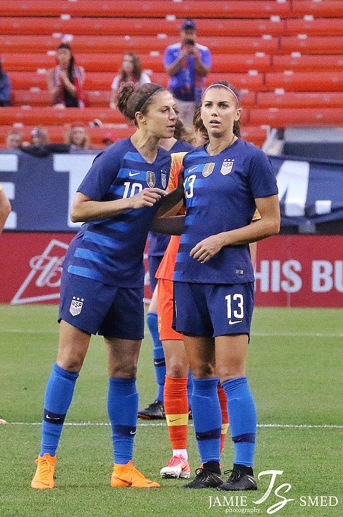 Carli Lloyd (left) & Alex Morgan, June 12, 2018.