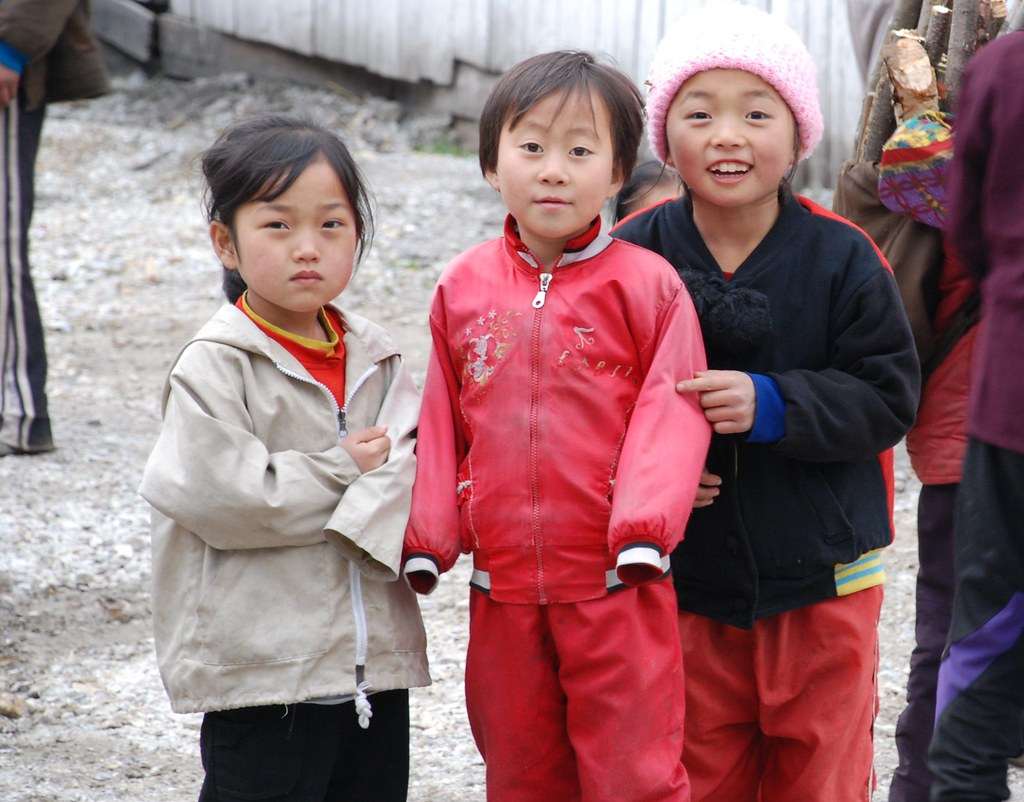 3 children, North Korea: Daily life remains a struggle