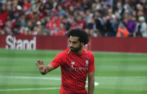 Mohamed Salah in Liverpool training