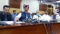 Pakistani politician Shaukat Ali Yousafzai with the cat filter.