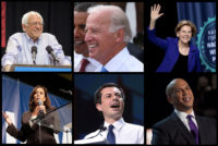 Six of the better known Democratic candidates for president.