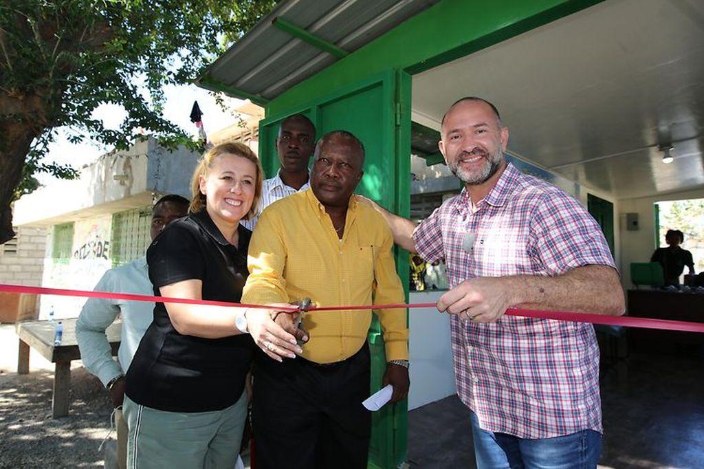 David Katz opening a Plastic Bank market in Haiti.