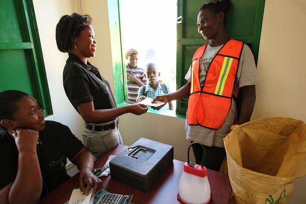 Getting paid for plastic, Haiti.