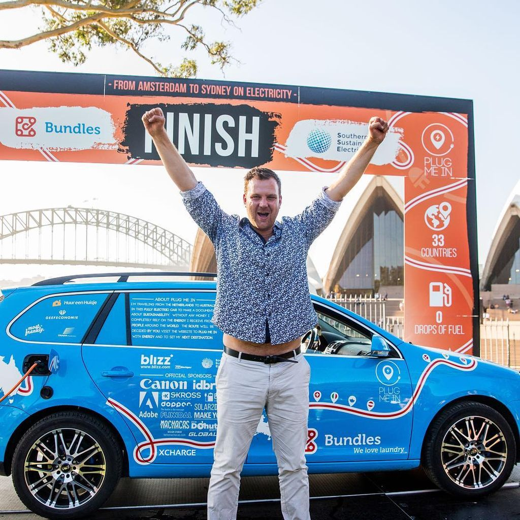 Wiebe Wakker's electric car trip - at the finish