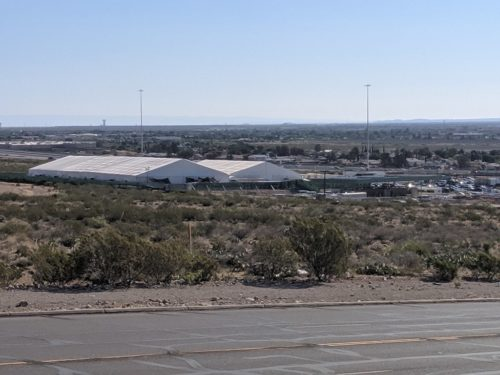 Border Patrol Tents in El Paso on Hondo Pass 2019
