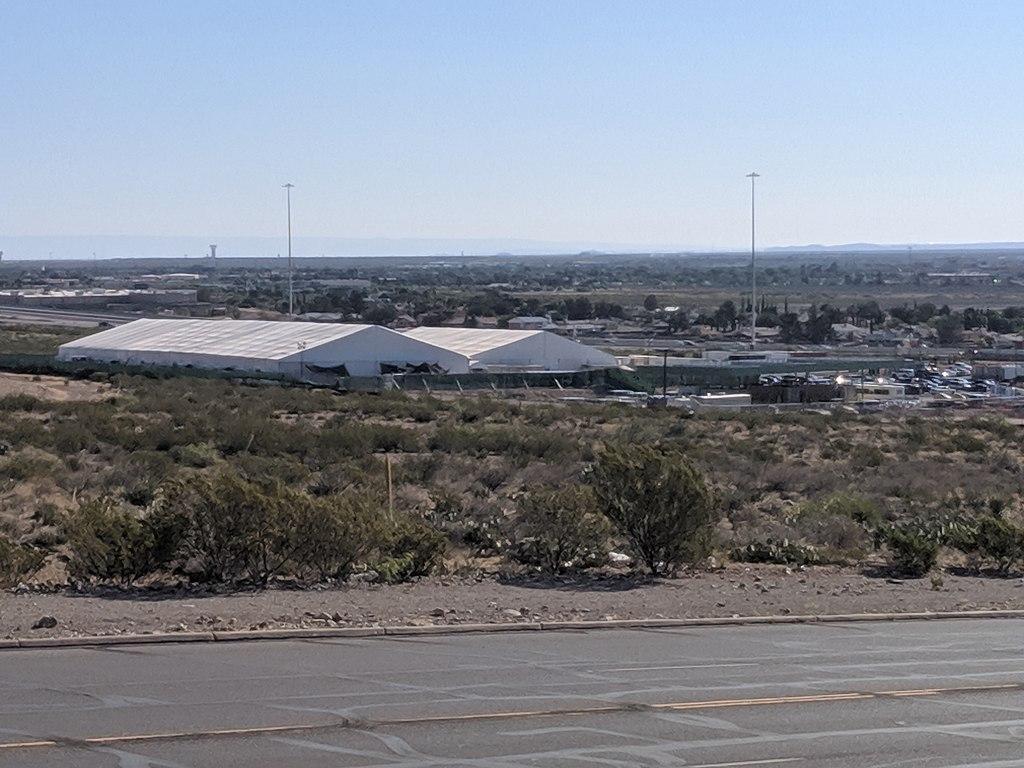 Border Patrol Tents in El Paso on Hondo Pass 2019