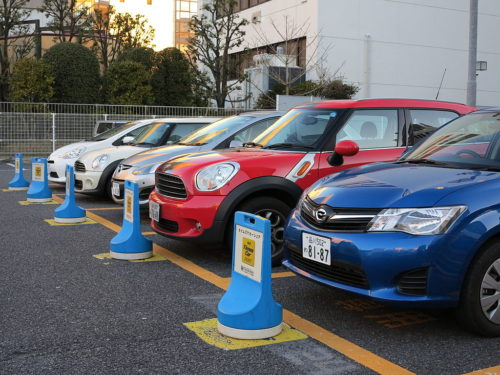 Carsharing station of Times Car Plus, Shibuya, Tokyo, Japan (Docomo Tower side Station) / 東京都渋谷区のタイムズカープラスのカーシェアリングステーション(ドコモタワーサイドステーション)